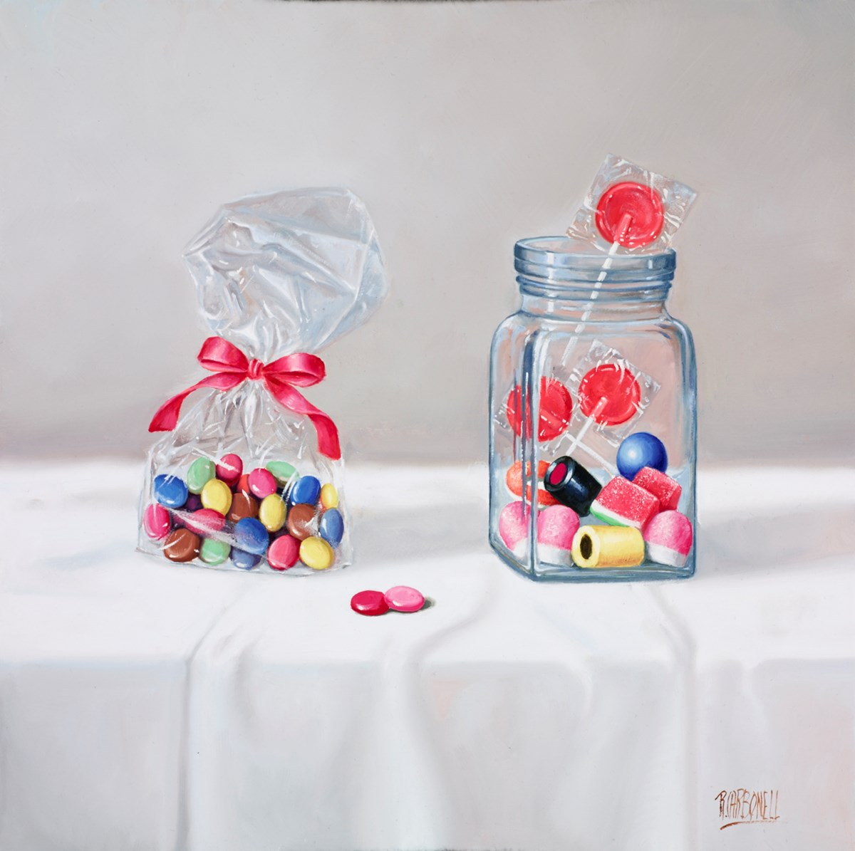Dulces I by raquel carbonell -  sized 14x14 inches. Available from Whitewall Galleries